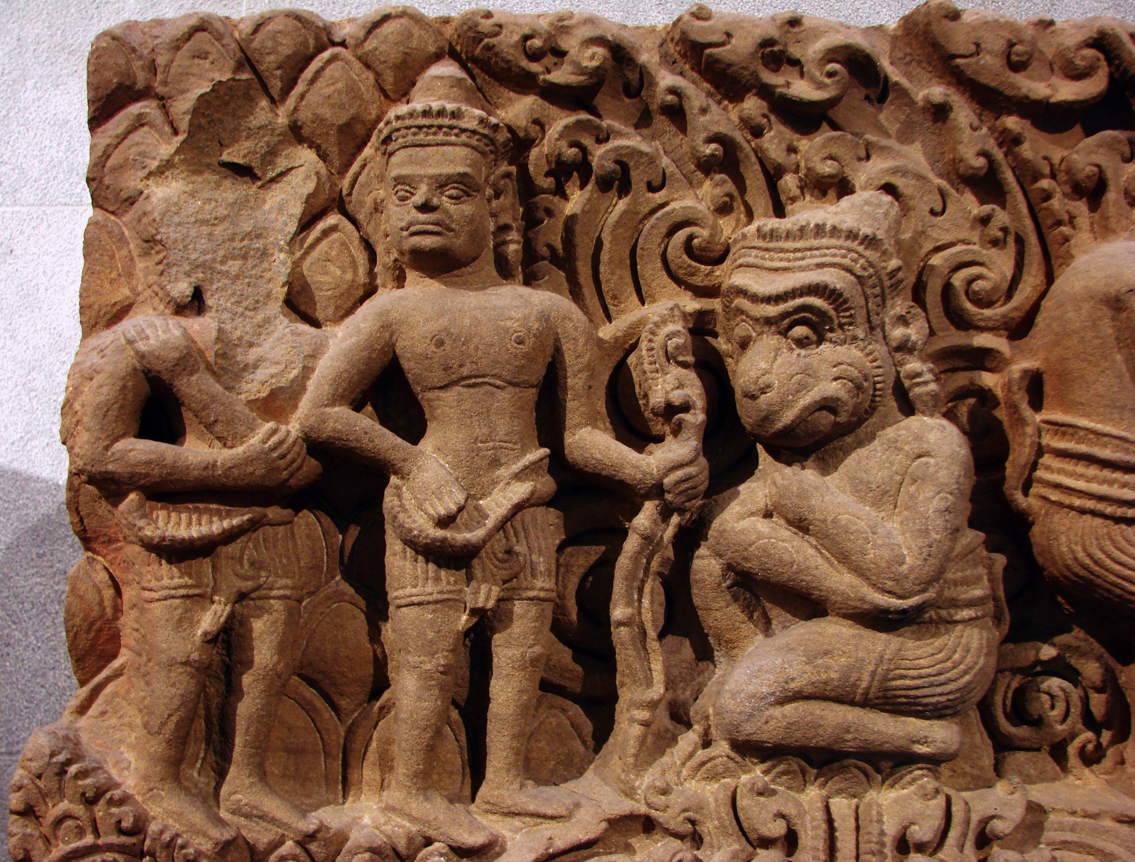 Rama, Lakshmana and Hanuman in Cambodian