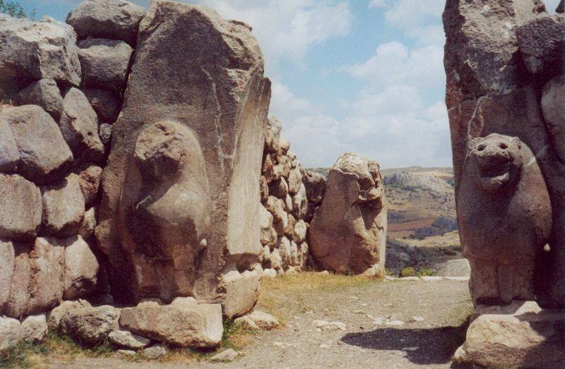 The Lion Gate at Hattusa capital of the Hittite Empire