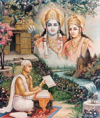 Gosvāmī Tulsīdās blessed by Sita Rama