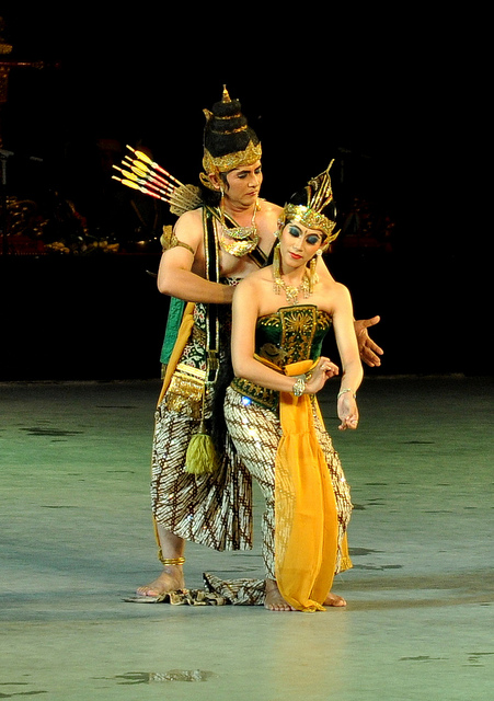 Ramayana performance through ballet Dance in Java