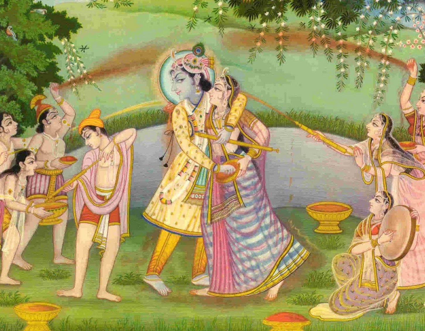 Sita Rama playing Holi